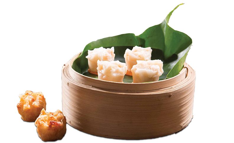 Basket of foodservice Amoy Asian Shaomai in a restaurant setting