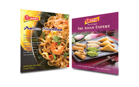 Amoy Asian Marketing Materials and Brochures for Foodservice